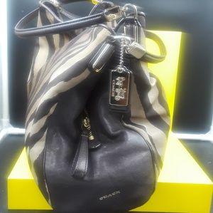 Animal print COACH purse w/goldtone hardware
